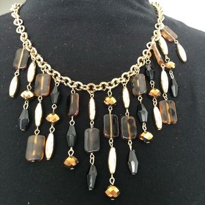 Erica Lyons gold tone chain with acrylic beads